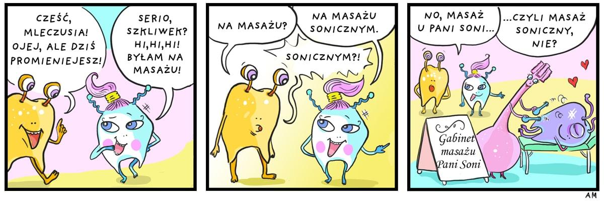 Komiks masaż soniczny popr