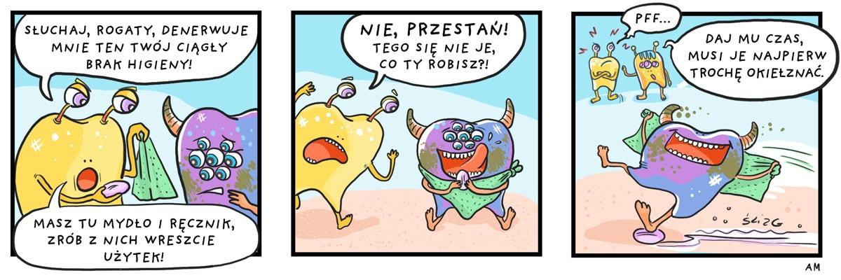 komiks mycie